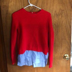 J crew crewneck sweater with zipper detail